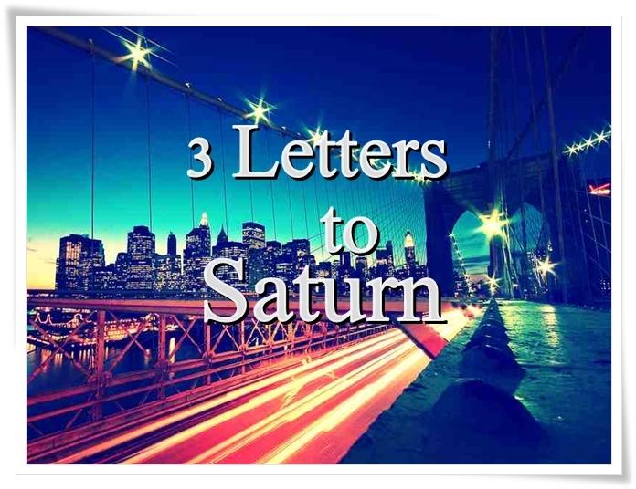 Wattpad: 3 Letters toSaturn